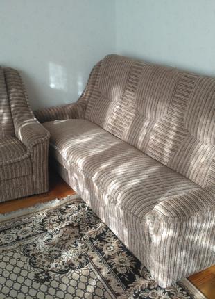 Комплект: диван + кресло