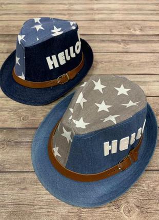 Шляпа детская размер: 52см-54см