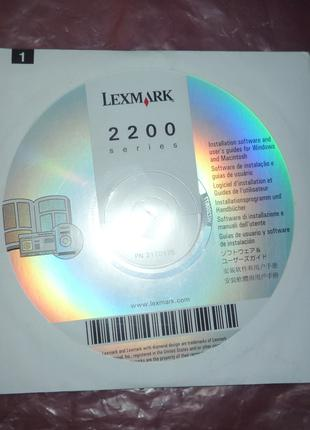 Lexmark 2200 installation software and user guide