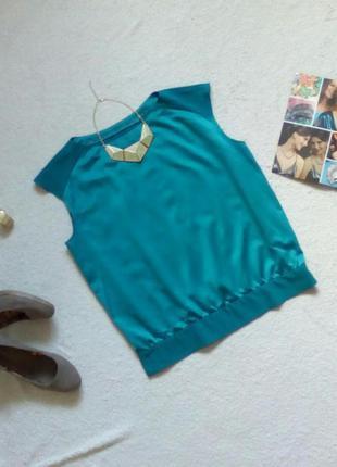 Атласная блуза/блузка/топ с контрастными плечами и поясом