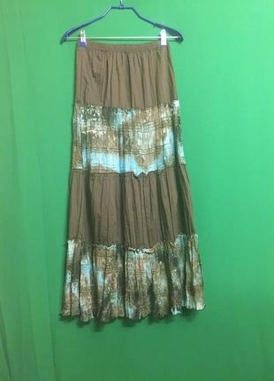 Летняя длинная юбка в пол