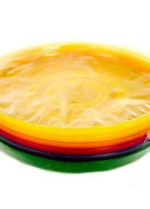 Набор термоустойчивых многоразовых пластиковых тарелок