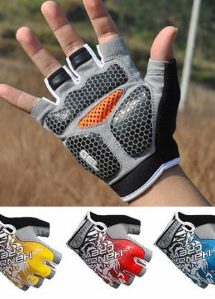 Велосипедные перчатки, велоперчатки Hand Crew с гелевыми вставкам