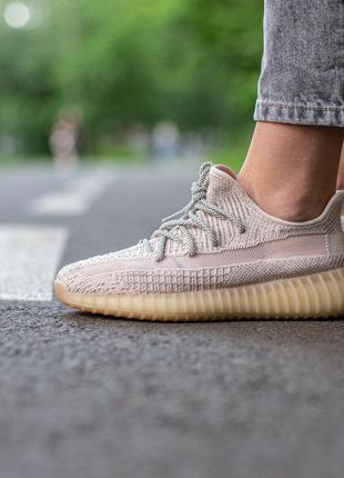 Adidas yeezy boost 350 v2 pink женские стильные кроссовки