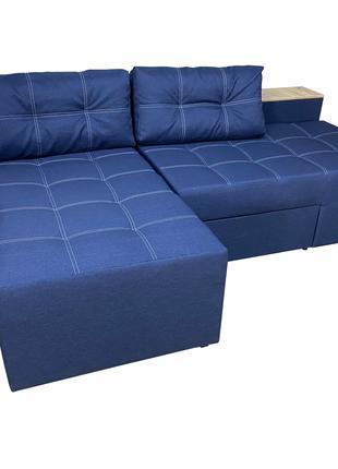 Угловой диван Домино (синий)