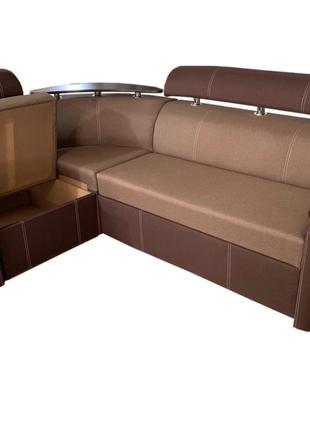 диван Невада (бежевый с коричневым)