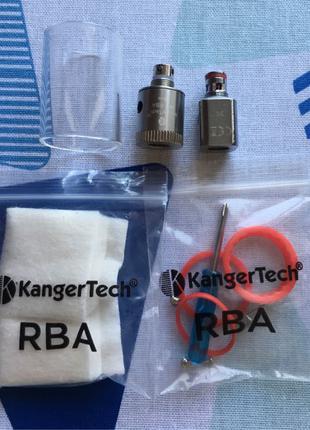 Комплектующие для электронной сигареты: атомайзер, mini RBA base