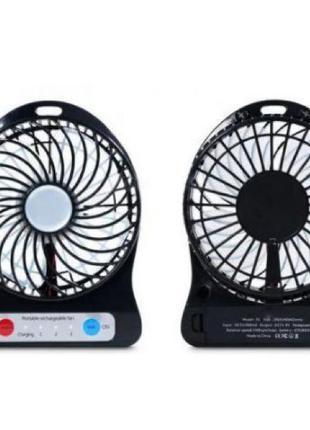 Вентилятор настольный Mini Fan XSFS-01 с аккумулятором 18650 Blac