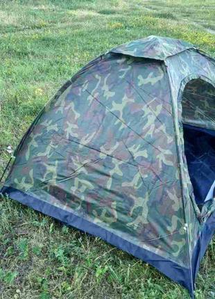 Палатка четырехместная 2*2,5 м водонепроницаемая для кемпинга