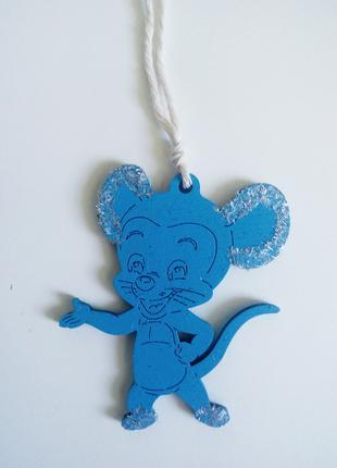 """Интерьерная статуэтка, декоративная подвеска """"Микки, мышь с сыром"""
