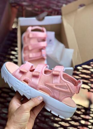 Женские босоножки Fila Disruptor II Pink | 35-40.