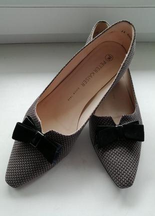 Кожаные туфли балетки peter kaiser