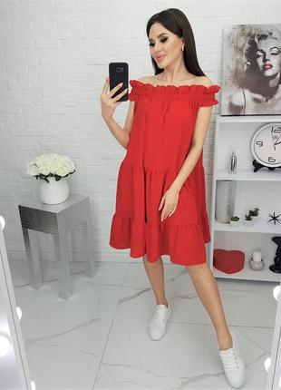 Платье летнее легкое красное