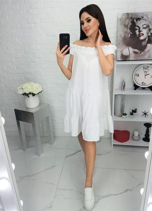Платье летнее легкое белое