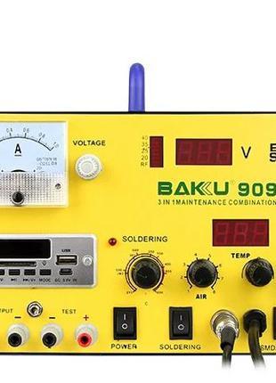 Паяльная станция BAKU BK-909S BK-909 БП 15v1A паяльник фен USB...