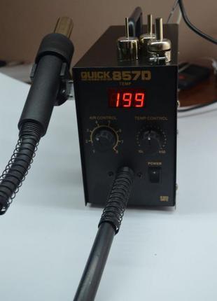 Паяльная станция аналог Quick 857d фен термовоздушная