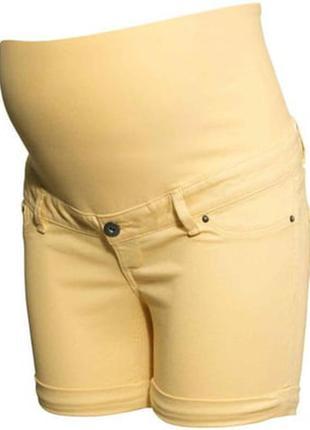 Шорты для беременных джинс желтый