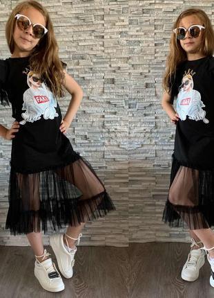 Стильное шикарное платье  на девочку турция