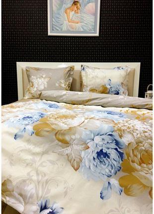Постельное белье Lotus Premium - Vanessa семейное - два пододеяль