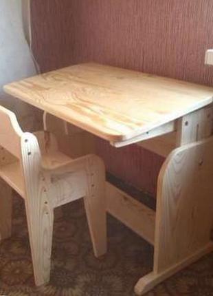 Парта стол и стул от 3 лет до 11 ортопедическая