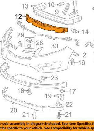 Пенопласт переднего бампера абсорбер Chevrolet Volt 11-15 2597555