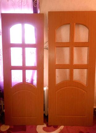 Двери межкомнатные б.у 2шт