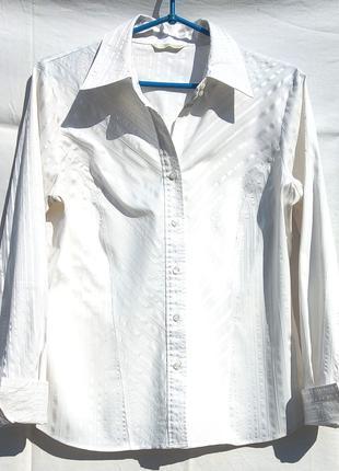 Блуза / рубашка женская белая MARKS & SPENCER  размер 48-50