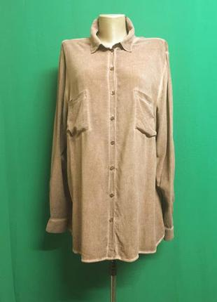 Лёгкая длинная вискозная рубашка qiero