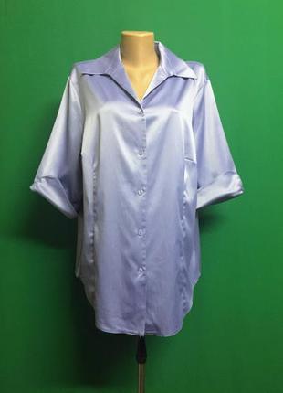 Лиловая атласная блуза canda