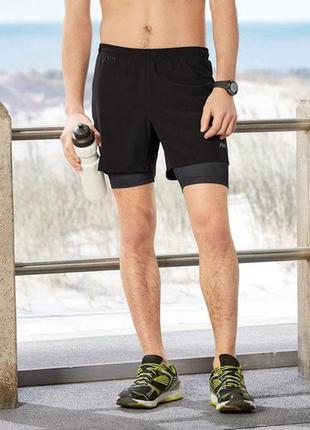 Функциональные мужские шорты 2 в 1 crivit®, s