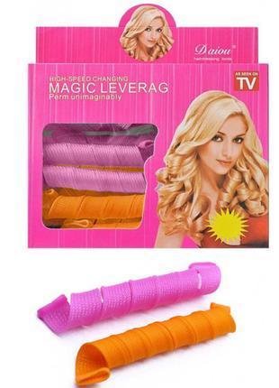 Волшебные бигуди magic leverag для волос 18 шт комплект 9191