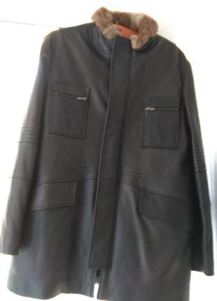 Итальянская кожаная куртка veRRi 50p.
