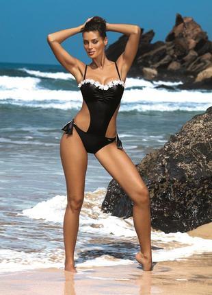 Lucy 464 marko купальник монокини черный с сатиновым блеском и...