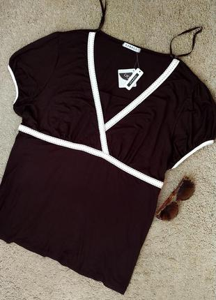 George новая! блузка/футболка цвета темного шоколада, большого...