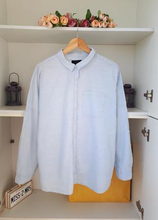 Хлопковая рубашка длинный рукав atmosphere