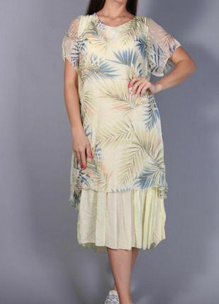 Платье летнее в составе шелк размер l-xl