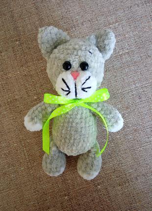Вязаные плюшевые игрушки, вязаный кот