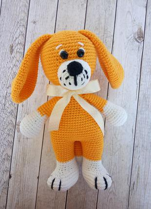 Вязаные игрушки, вязаная собачка