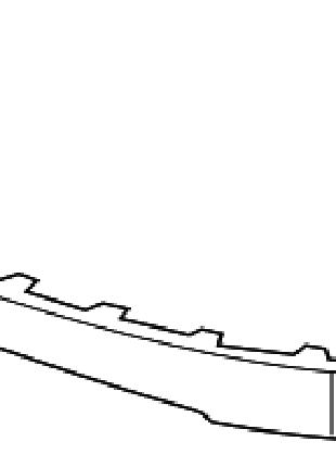 Губа удлинитель переднего бампера Chevrolet Volt 11-15 20993998