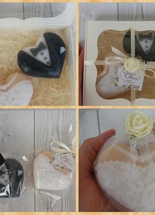 Мыло ручной работы для гостей на свадьбу
