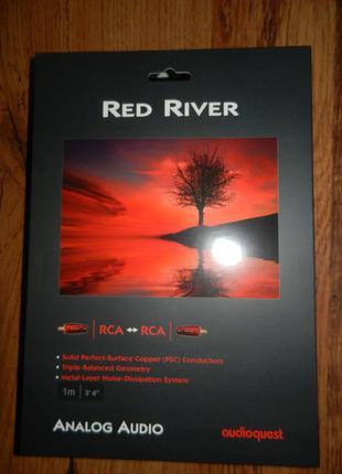 Кабель Межблочный AudioQuest Red River 1m RCA
