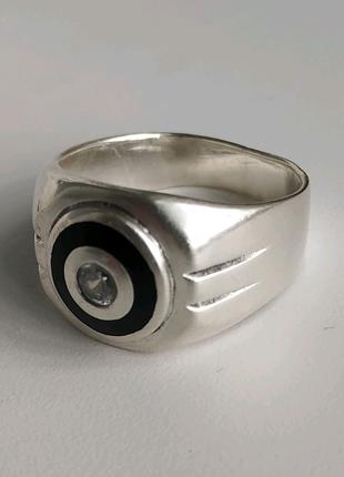 Серебряное мужское кольцо (печатка)