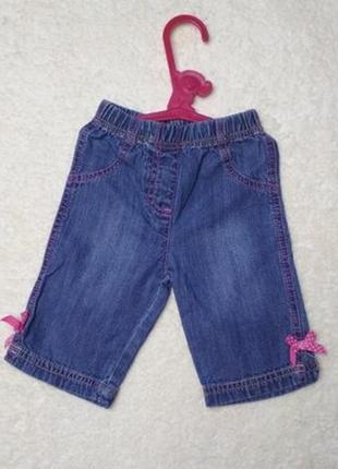 Джинсовые штаны джинсы на девочку 0-3 месяцев