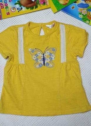 Трикотажная блузка туника на 1-1.5 года