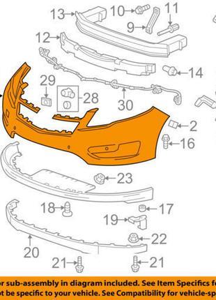 Бампер передний голый Chevrolet Volt 11-15 20980829