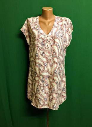 Тонкая туника-платье с поясом на жару divided