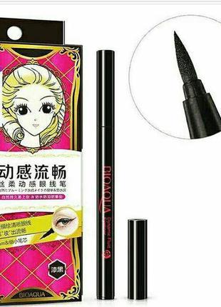 Подводка маркер для макияжа глаз  черный bioaqua