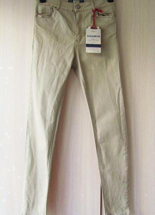 Песочные джинсы pull&bear capri fit / s /высокая посадка