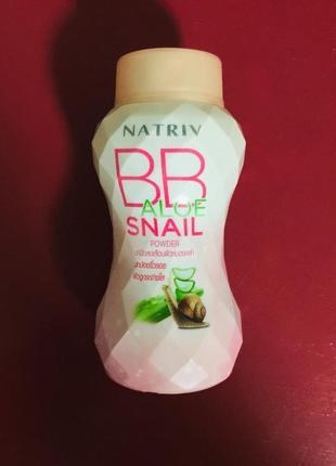 Пудра с улиточным муцином и алоэ вера natriv bb aloe snail powder