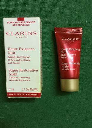 Ночной крем clarins super restorative night all skin types мин...